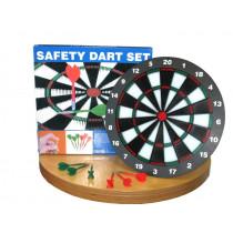 Longfield Dartboard sécurité des enfants avec 6 fléchettes