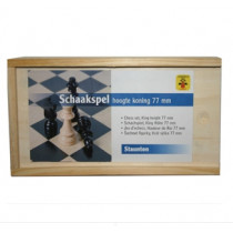 Longfield Chess Pieces Bois Box - King 77 mm