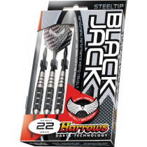 Harrows Black Jack en acier inoxydable Steeltip Darts