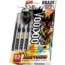 Harrows Voodoo ébonite Brass Steeltip Darts