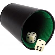 Buffalo Pokercup cuir noir - 9 cm