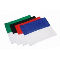 Coin drapeau 2 couleurs - rouge / blanc