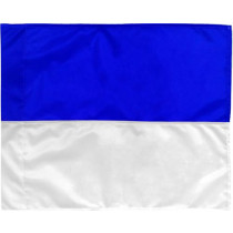 Coin drapeau 2 couleurs - bleu / blanc