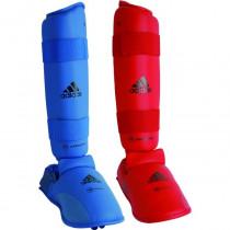 Adidas WKF Shin Instep Protector - Bleu
